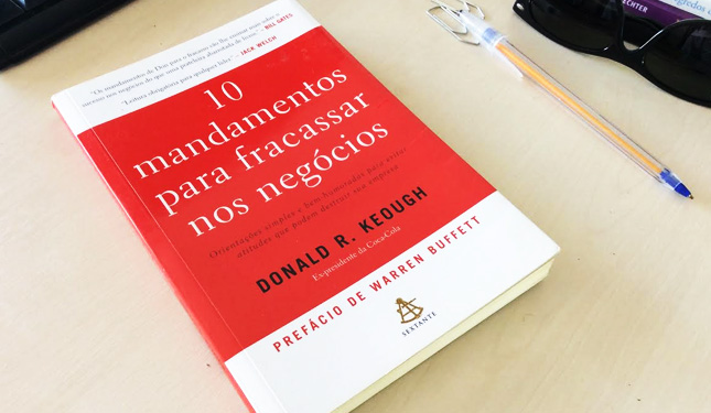 Livro 10 mandamentos para fracassar nos negócios