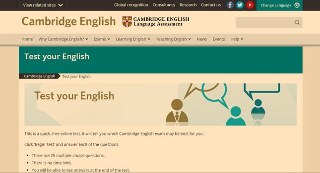 aprender inglês sozinho - fazendo o teste de Cambridge
