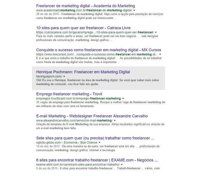 Texto humanizado na descrição do Google